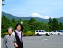 ホテルから富士山を望む務写真