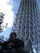東京スカイツリー下での写真